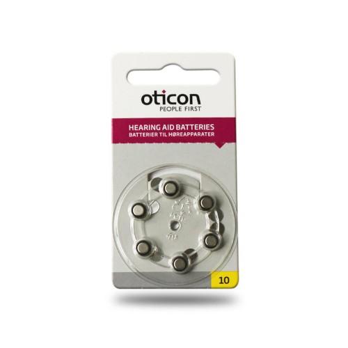 OTICON nr. 10 - klausos aparatų elementai, 6 vnt. pakuotė