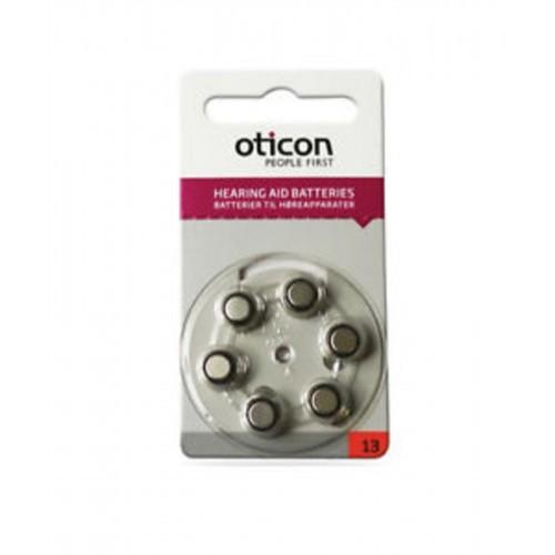 OTICON nr. 13 - klausos aparatų elementai, 6 vnt. pakuotė