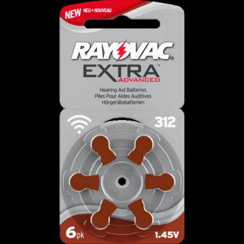 RAYOVAC Nr. 312 - klausos aparatų elementai, 6 vnt. pakuotė