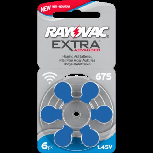 RAYOVAC Nr. 675- klausos aparatų elementai, 6 vnt. pakuotė